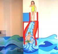 Badepark Wandmalerei Rutsche