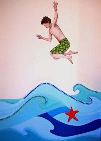 Badepark Wandmalerei